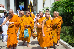 Thai Monk around Wat Thai Bodhigaya Buddhism Temp royalty free stock images
