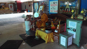Thai Monk Blessing For Prayer Royalty Free Stock Photography