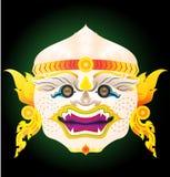 Thai monkey mask stock photo
