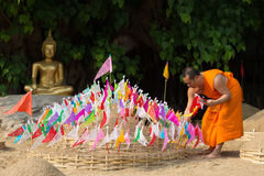 Thai monks in Pantao temple. Royalty Free Stock Photos
