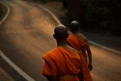 Thai monks Royalty Free Stock Images