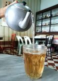Thai morning tea in old town. Thai morning tea in coffee shop songkhla old town Stock Photography