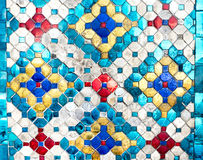 Thai mosaic colorful pattern texture background,made from glass Royalty Free Stock Photography