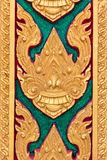Thai Motifs on wall Stock Image