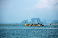 Thai motor boat Royalty Free Stock Photos