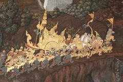 Thai Mural art Stock Photography