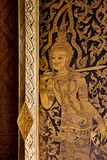 Thai mural art on window Stock Photo