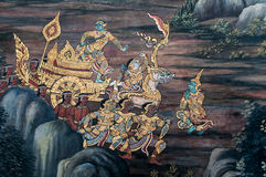 Thai mural paint in temple Royalty Free Stock Images
