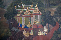 Thai Mural painting Royalty Free Stock Images
