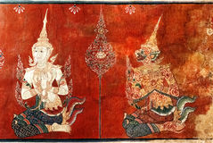 Thai mural painting Stock Image
