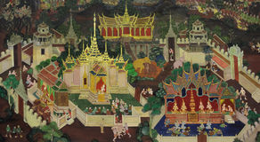 Thai mural painting art Royalty Free Stock Photography