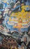 Thai mural painting art Royalty Free Stock Images