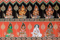 Thai mural painting art Royalty Free Stock Images