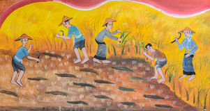 Thai mural painting art Stock Photography