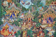 Thai mural paintings Stock Image