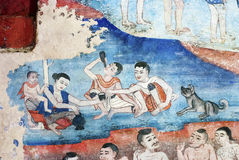 Thai mural paintings Stock Photography