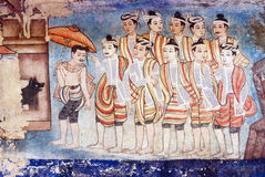 Thai mural paintings Stock Images