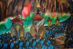 Thai mural paintings Stock Photo