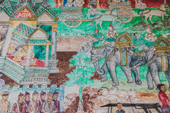 Thai mural in the Temple Royalty Free Stock Image