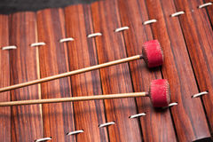 Thai music instrument. Close up or Thai xylophone (Ra-Nad-Ek Stock Image