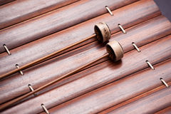 Thai music instrument. Close up or Thai xylophone (Ra-Nad-Ek Stock Images