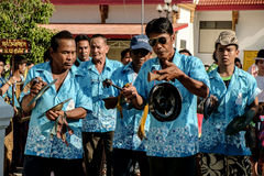 Thai music orchestra parade Royalty Free Stock Images
