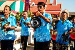 Thai music orchestra parade Stock Photo
