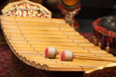Thai musical instrument. Gong Instrument for rhythm Stock Photos