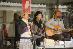Thai Musicians Performing Stock Photo