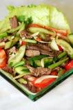 thai nötköttsallad Arkivbilder