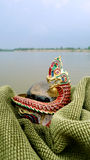 Thai Naga amulet at khong river Stock Photography