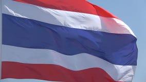 Thai national flag close-up. Thailand. Thai national flag close up. Thailand stock footage