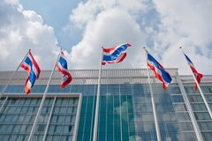 Thai national  flags Royalty Free Stock Image