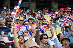 Thai Nationalist Rally Royalty Free Stock Photography