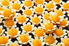 Thai native ancient dessert called Ja Mongkut, D. Ifficultly to find and buy in the market Stock Image