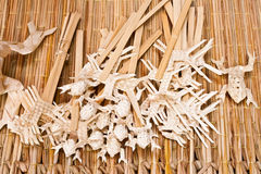 Thai native bamboo wicker toy Stock Photos