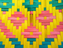 Thai Native Colorful Bamboo Fan stock images