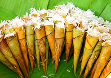 Thai native dessert called  Kanom Kruay Royalty Free Stock Photos