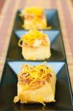 Thai native egg custard Stock Photos