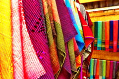 Thai native fabric in chiangmai Royalty Free Stock Image