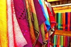 Thai Native Fabric In Chiangmai Royalty Free Stock Image