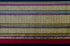 Thai native fabric weave. Closeup pattern texture of general traditional thai style native handmade fabric weave Stock Photos
