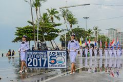 Thai Navy parade marching in International Fleet Review 2017