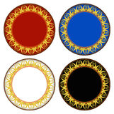 Thai new style gold circle frame Royalty Free Stock Photo