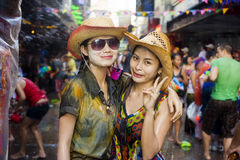 Thai new year festival Stock Photos