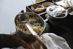 Thai Noodle on Boat Stock Photos