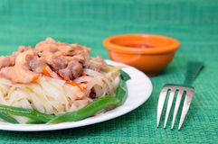 Thai noodle dish Stock Photography