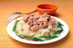 Thai noodle dish Royalty Free Stock Photos