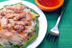 Thai noodle dish Stock Images