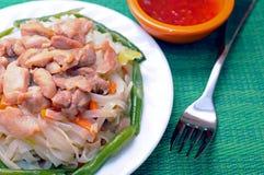 Thai noodle dish Stock Images